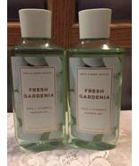 Set of 2 Bath & Body Works Fresh Gardenia Shower Gel Honeysuckle Aloe Sh... - $23.66