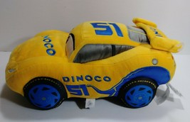 "Disney Store Pixar Cars 3 Plush Dinoco 51 Soft Pillow Toy Car 14"" Inches... - $18.69"