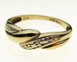 9 Carat Yellow Gold Diamond Set Ring, Size O - $76.28
