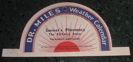 Antique Advertising Dr. Miles hanger / Sign Sanner's Rexall THURMONT Mar... - $25.00