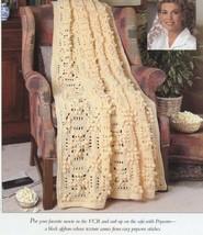 Popcorn Afghan Vanna Crochet PATTERN/INSTRUCTIONS Leaflet - $0.90