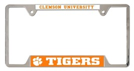 Clemson Tigers Heavy Duty Chrome Metal License Plate Frame - $13.95