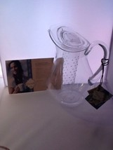 New Acrylic Beverage Pitcher w/ Flavor Infuser Easy Exotic by Padma Lakshmi - $22.99