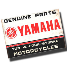 Yamaha Genuine Motorcycle Parts Reproduction 8x12 Inch Aluminum Sign - $14.80