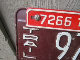 Vintage 1954 Indiana Trailer License Plate w/ 55 Tag 9784 7266 Airstream Shasta image 2