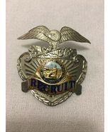 California Police Academy Recruit Police Hat Badge. Hallmark Sun Badge - $149.59