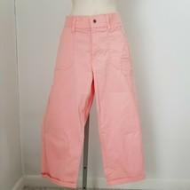 Peach Lee Brand Relaxed Fit Spandex Cotton Womens Straight Leg Capri Pants Sz 10 - $36.00