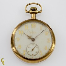 Elgin Open Face 14k Yellow Gold Pocket Watch 15 Jewel Size 12 Grade 315 - $1,069.20