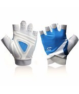 Yaayan Blue Padded Women's Power Weight Lifting Gloves for Fitness Worko... - £11.36 GBP