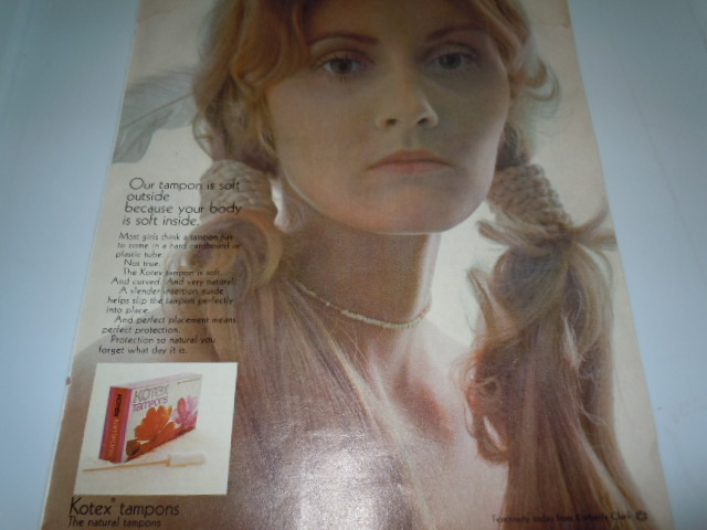 Vintage Kotex Tampons soft Outside Print Magazine Advertisement 1971