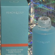 NEW IN BOX *Sealed* Peach & Lily The Good Acids Pore Toner AHA & Turmeric FullSz image 2