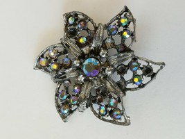 Women Fashion Gemstones Flower Brooch Pin - $10.08