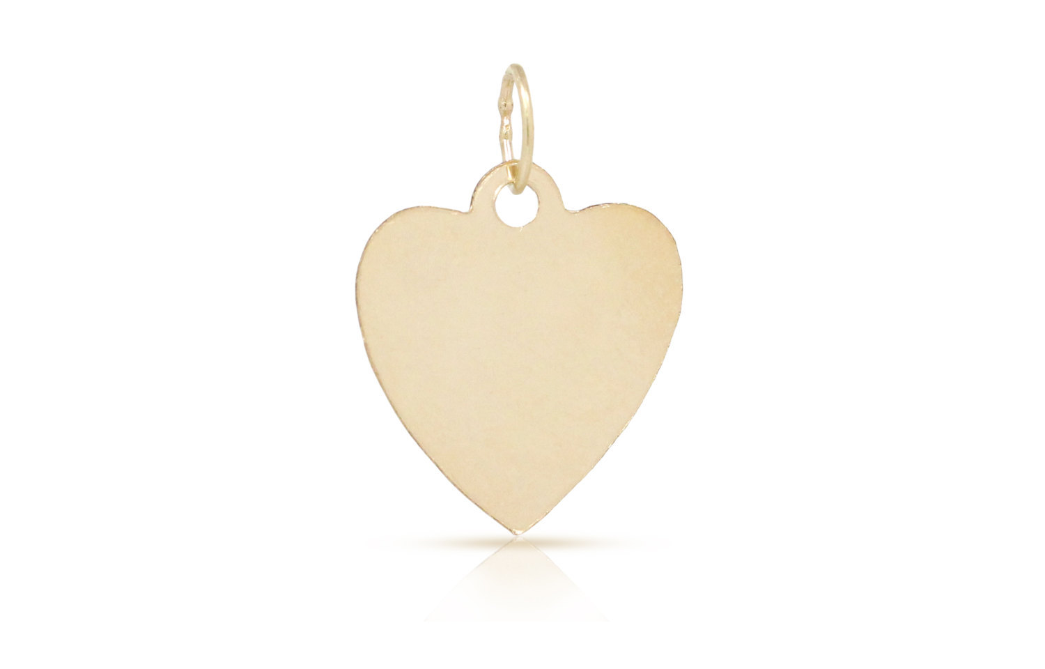 Primary image for Charms, Heart Stamping Tag, 14Kt Gold Filled, 14.8x13.4mm, 2Pcs (3956)/1