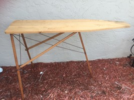 Antique Folding Wooden Ironing Board Rustic Primitive Wood 47 Inches 25645 - $46.32