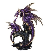 Pacific Giftware Royal Purple Dragon Family Collectible Figurine 9 Inch Tall - $34.74