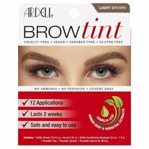 Ardell Brow Tint Light Brown No Ammonia No Peroxide Covers Gray 12 Appli... - $10.40