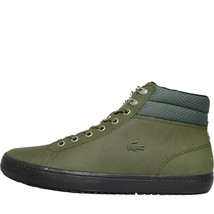 Lacoste Mens Straightset Thermal Leather Shoes Khaki - $152.01