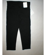 NWT New Womens Gap Fit Gapfit Gfast Capri Pants Yoga Slimming Black S Gy... - $27.60