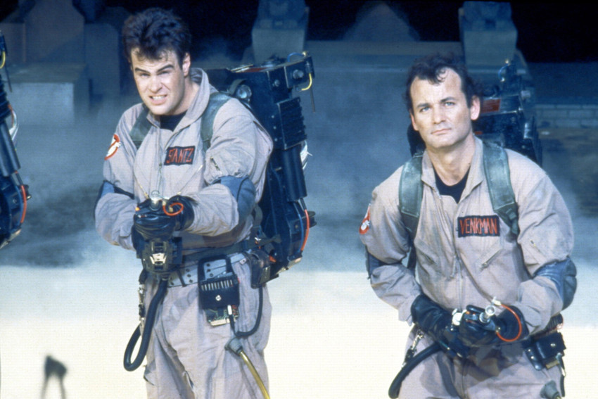 Primary image for Dan Aykroyd and Bill Murray in Ghostbusters With Smoke and Guns 18x24 Poster