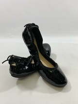 Cole Haan Womens sz 9  Black Patent Leather Heel Bow Ballet Flat Comfort... - $37.11