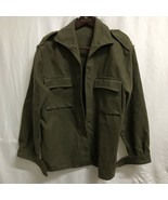 Vintage Army Military Wool Shirt Size Medium - $24.74