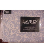 Ralph Lauren Light Blue Floral Medallions on White 3 pc Duvet Cover Set ... - $142.00