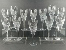 "12 Atlantis Flight Wine Glass Set 7 3/4"" Clear Crystal Elegant Barware Glasses - $445.17"