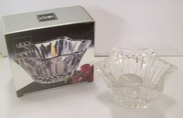 "New Mikasa Crystal Diamond Fire Votive Candle Holder 5"" - $24.26"
