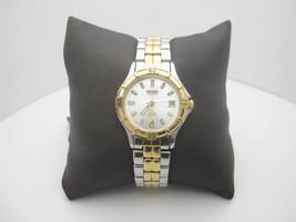 Women's Seiko Quartz SQ 50 5 Bar Water Resistant Analog Date Dial Watch ... - $32.53