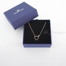 NIB Swarovski 5465686 Lovely Necklace Heart Crystal Gray Rose Gold Plati... - $78.95
