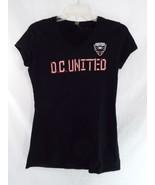 MLS Soccer D.C. United V Neck T Shirt Short Sleeves Black XL - $18.80