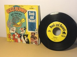 Disneyland 33 Rpm Record Story Song Book Vintage Bugs Bunny Get That Pet Tweety - $19.75