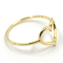 SOLID 18K YELLOW GOLD HEART LOVE RING, 10mm DIAMETER HEART CENTRAL MADE IN ITALY image 2