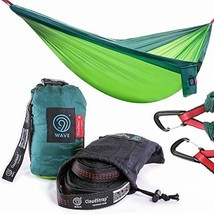 9th WAVE CloudNest Double Tree Hammock + Suspension Straps & Heavy Duty ... - $53.88