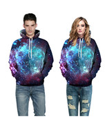 3d Print Sweatshirts Hooded Men/Women Hoodies With Hat Galaxy Space Star... - $59.99