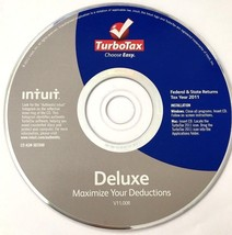 TurboTax Deluxe Federal & State E-file State 2011 Windows & Mac Intuit V... - $9.28