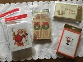 Lot of 5 Vintage Hallmark Christmas Invitation Greeting Card NOS - $14.80