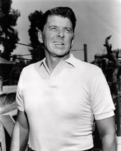 Ronald Reagan 8x10 Photo classic in white polo shirt 1960's - $7.99