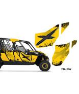 AMR Racing Can-Am Maverick MAX 4 UTV Door Graphics Wrap for CanAm OEM Do... - $346.45