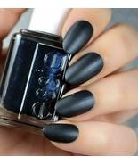 Essie Cashmere Matte SPUN IN LUXE Black w/ Blue Shimmer Nail Polish .46o... - $6.56