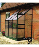 Ogrow Aluminium Lean-To Greenhouse  25 Sq. Ft.  With Sliding Door And Ro... - $450.00