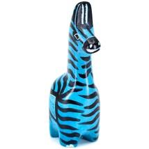 Crafts Caravan Hand Carved Soapstone Striped Blue Giraffe Figurine Made Kenya image 2