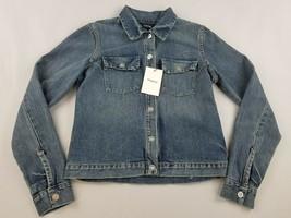 new THEORY women jean denim jacket Eco Sharkskin J0403104 bluet melange ... - $64.34