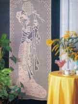 Land of Smiles Asian Wall Decor Country Hutch Garland Shelf Lace CROCHET... - $6.99