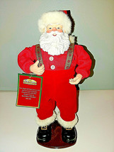 Animated Jingle Bell Rock Santa 1st Edition 1998 Musical Dancing Santa R... - $54.45