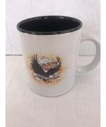 Harley-Davidson Live To Ride Coffee Mug Cup Black Inside Eagle Fire Amer... - $4.95