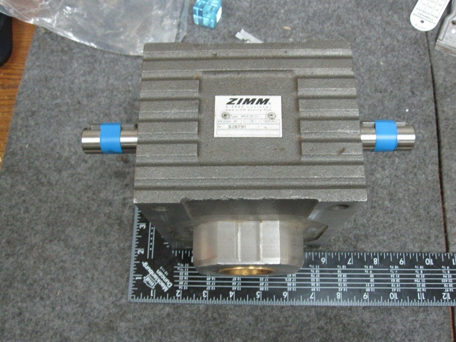 Zimm MSZ-50-SL Worm Gear Screw Jack, Ratio 28:1 1800rpm NEW