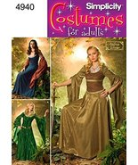 Simplicity Ladies Sewing Pattern 4940 Medieval Fantasy Costumes - $30.00