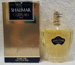 Guerlain Paris SHALIMAR Eau De Cologne Reusable Spray Gold 2.5 oz/75mL N... - $78.20