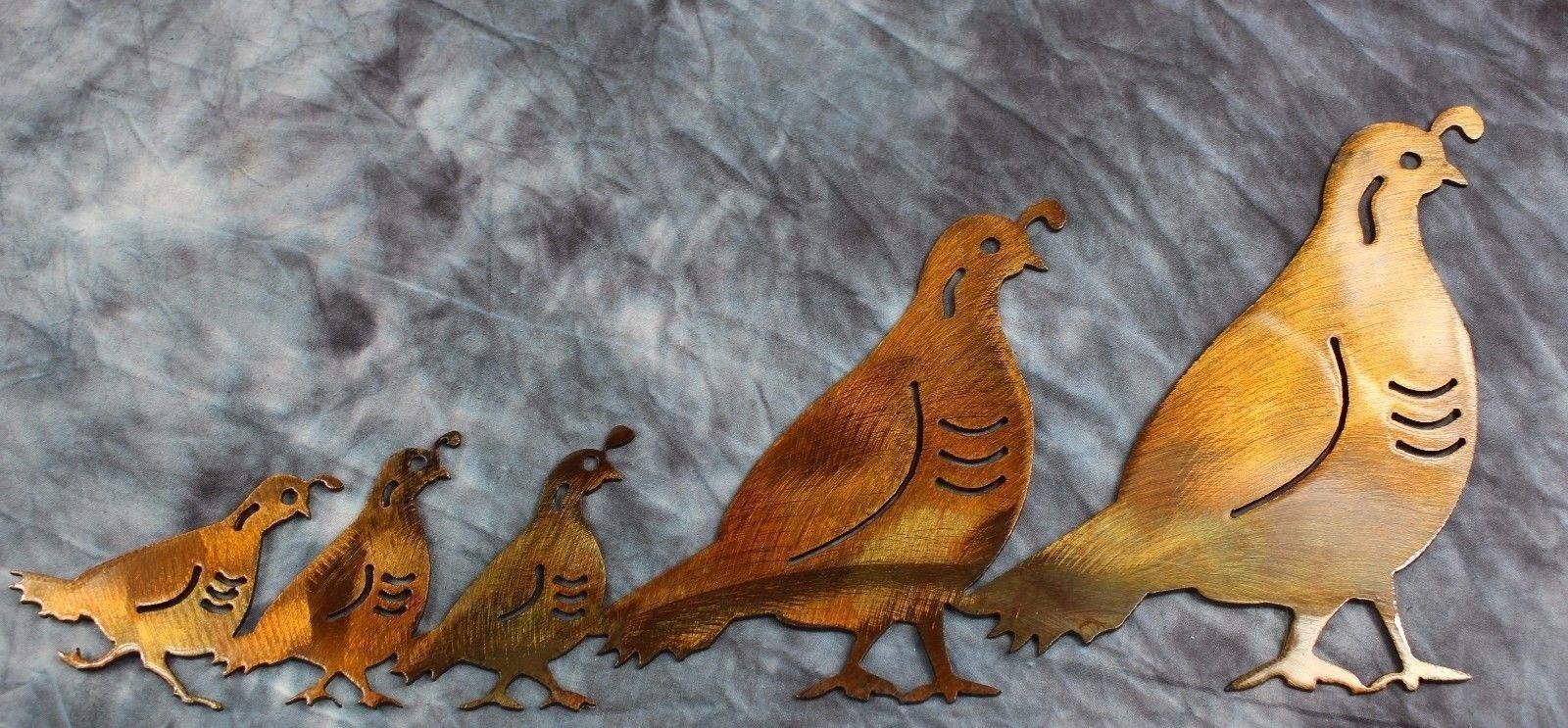 Arizona Quail Family By Hgmw Metal Wall Art And 50 Similar Items S L1600